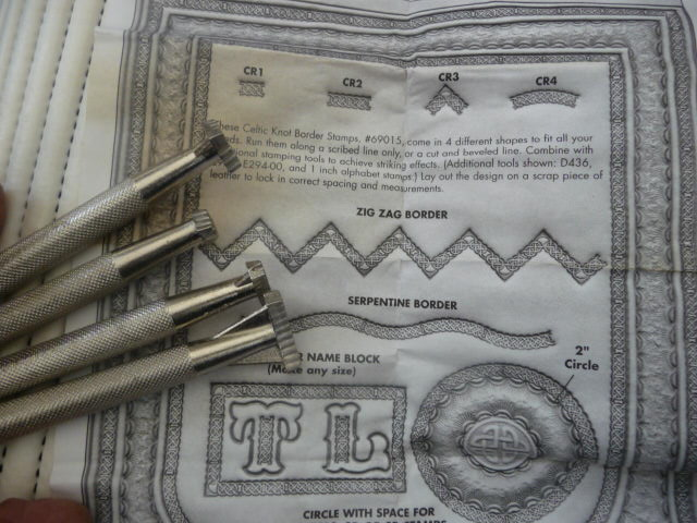 Soap or Leather Stamping Tool Set - Celtic Borders