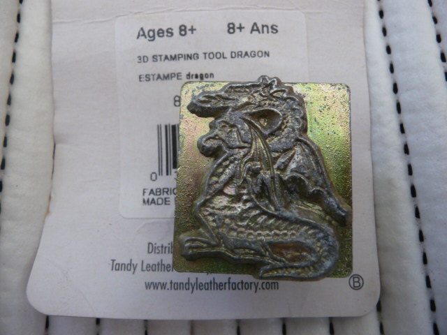 Soap or Leather Stamping Tool - Dragon *TO BE SOLD AS A SET ONLY