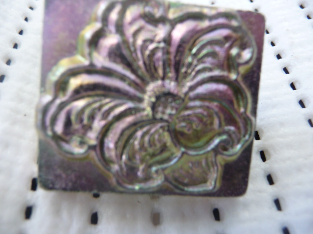 Soap or Leather Stamping Tool - Floral *TO BE SOLD AS A SET ONLY